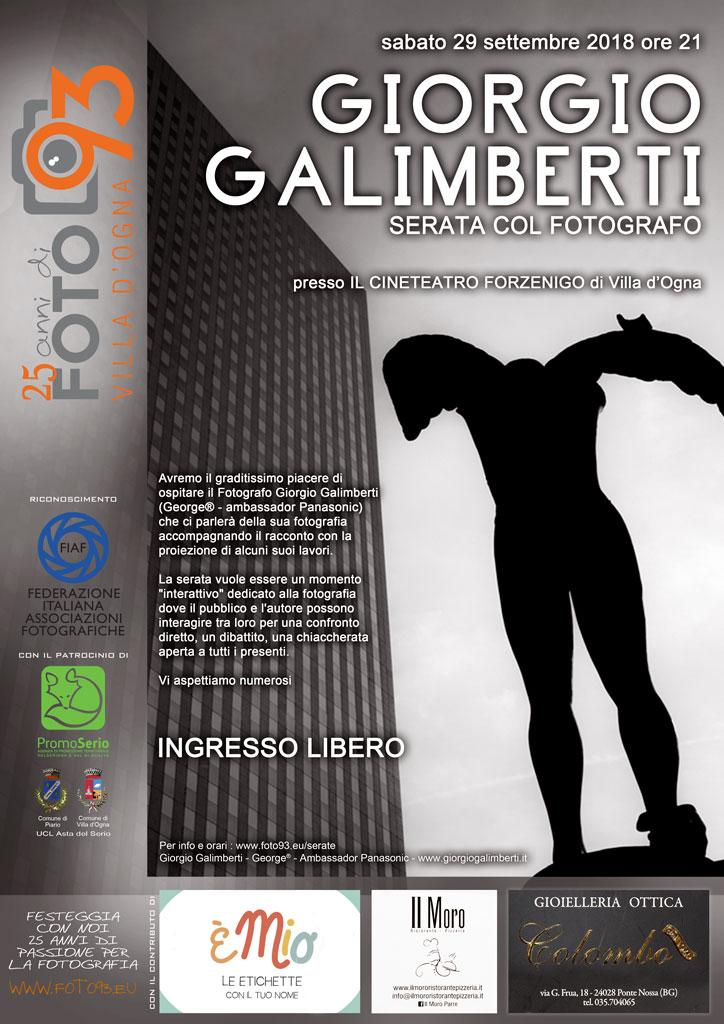 Serata col fotografo Giorgio Galimberti