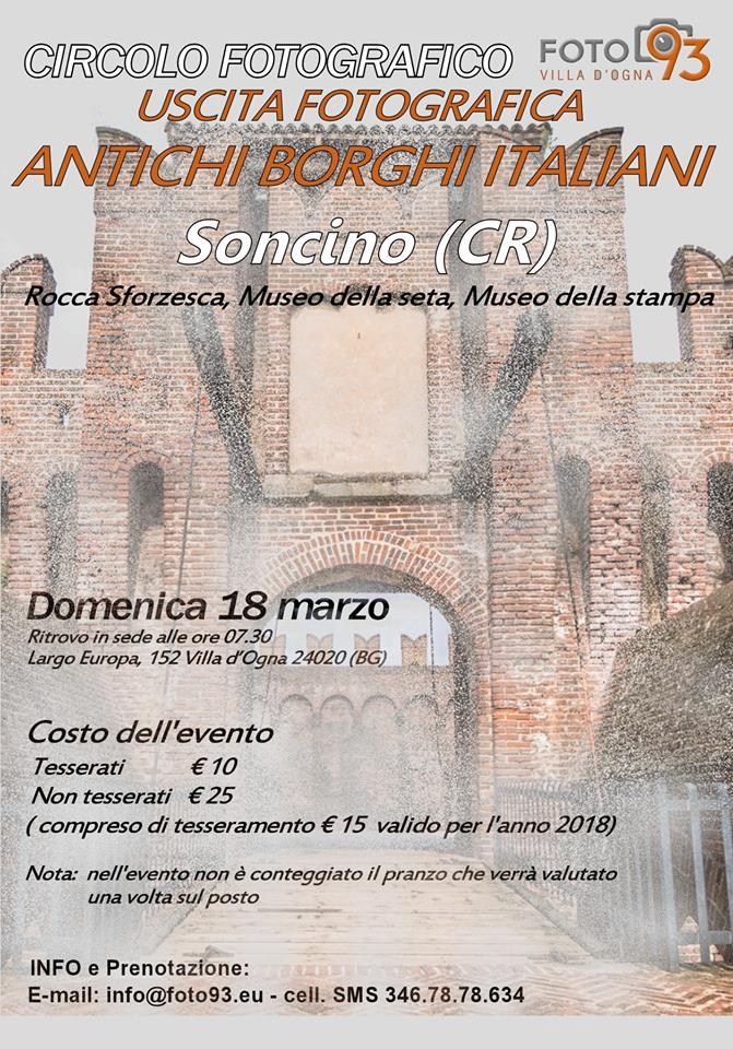Uscita Fotografica a Soncino - Antichi Borghi d