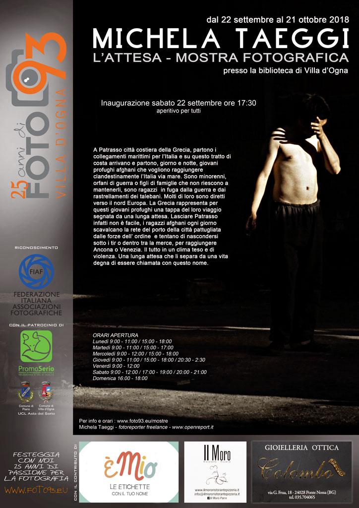 Mostra Fotografica - L ATTESA di MICHELA TAEGGI