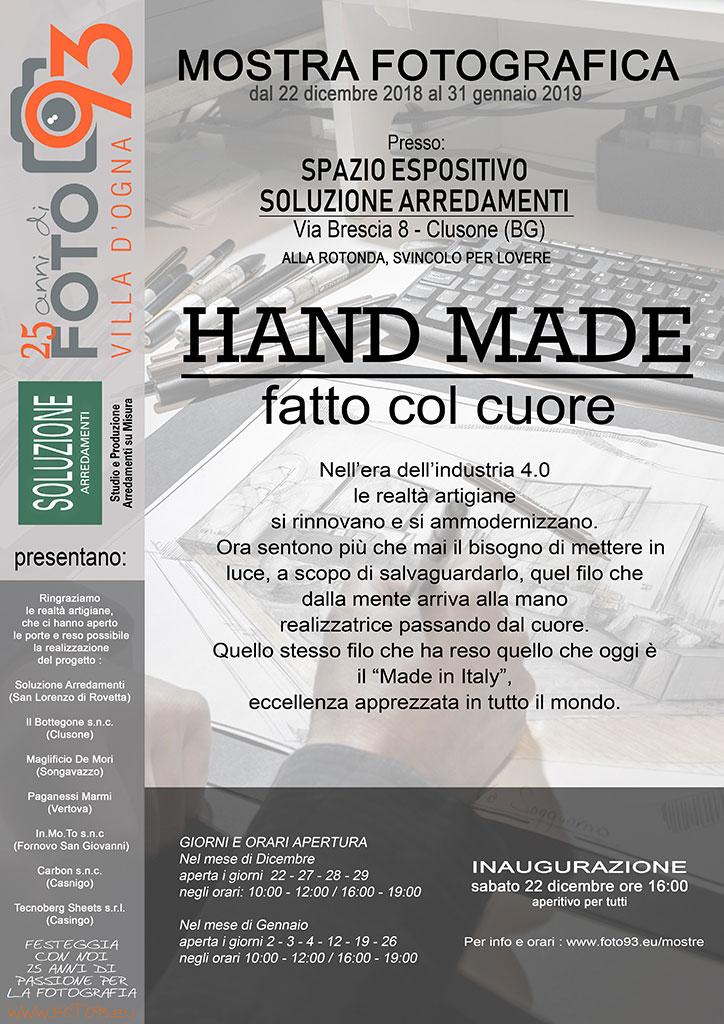 Hand Made - fatto col cuore _ mostra fotografica