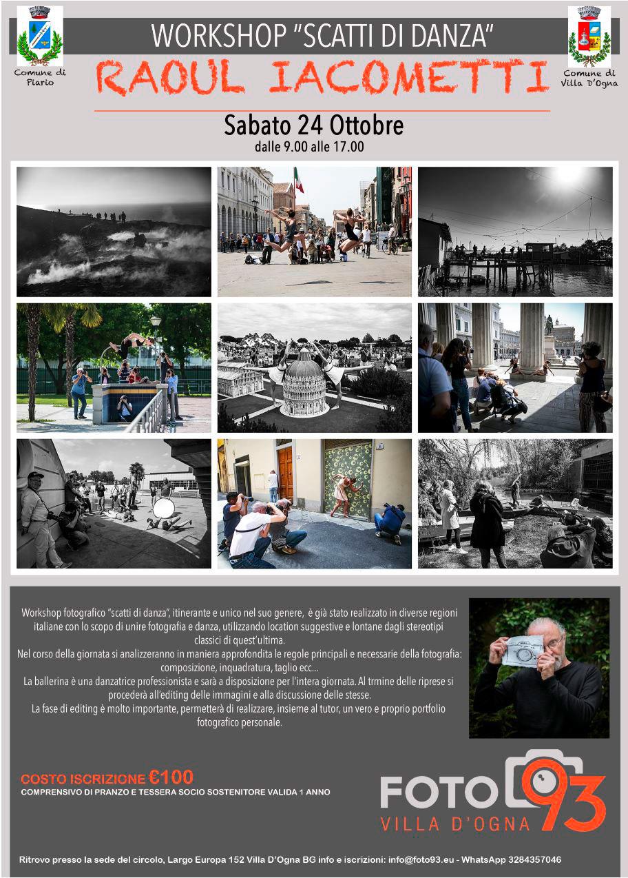 Workshop fotografico SCATTI DI DANZA con Raoul Iacometti