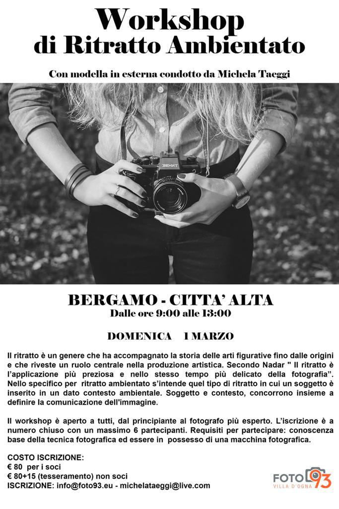 Workshop fotografico di RITRATTO AMBIENTATO