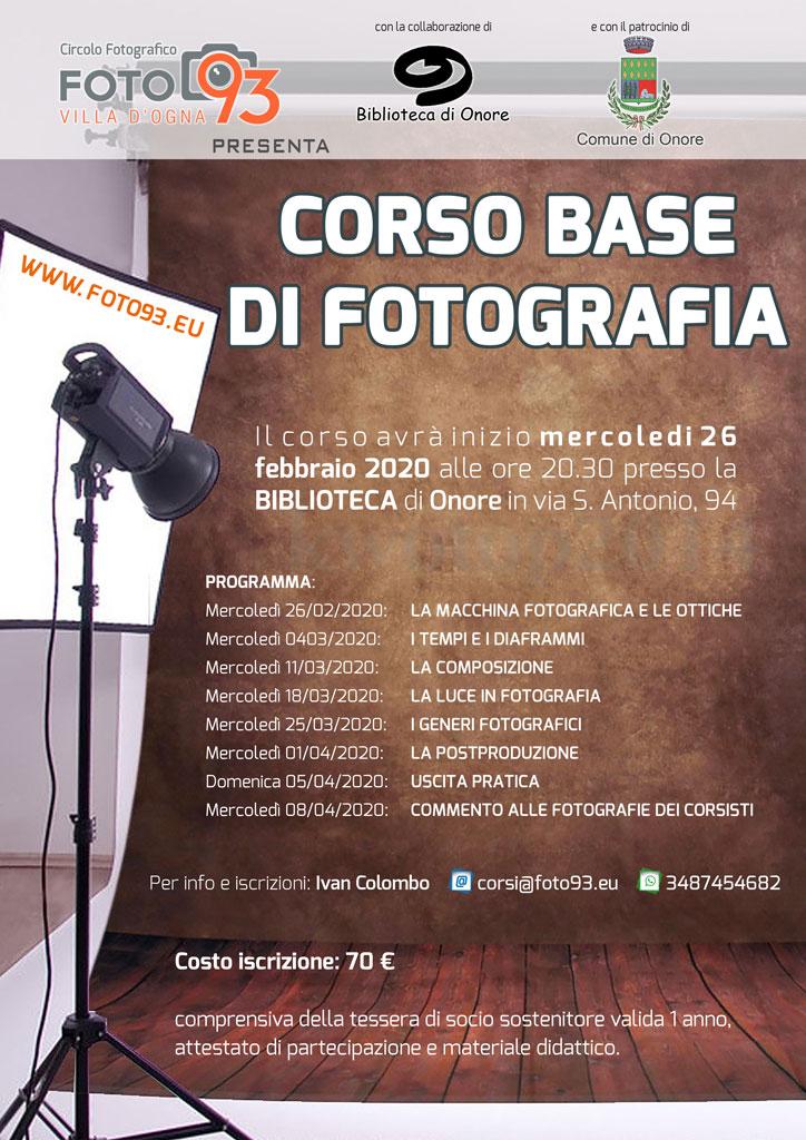 Corso base di fotografia digitale 2020
